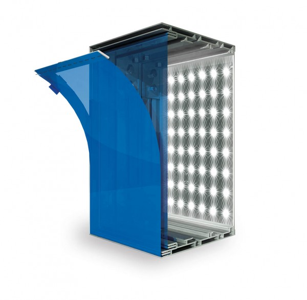 LED-BOX 150 Auslaufprofil